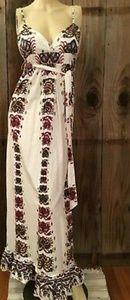 Crown of Hearts Bohemian Maxi Dress M